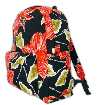 Big Flower Backpack back