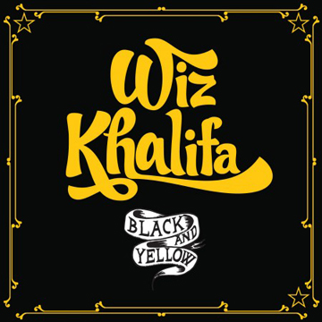 Wiz Khalifa BLACK and YELLOW WALL CLOCK label