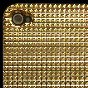 Gold Bling Hard Case Cover For Apple iPhone 4S label