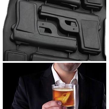 拳銃型製氷機 label