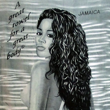 JAMAICA GREAT BODY BEACH BATH TOWEL back