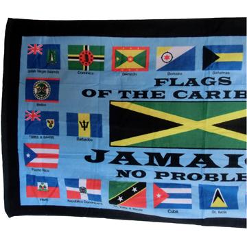 カリブ諸島 国旗 特大ビーチタオル label