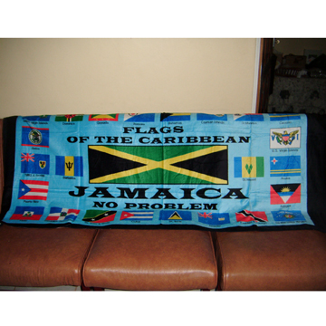 カリブ諸島 国旗 特大ビーチタオル