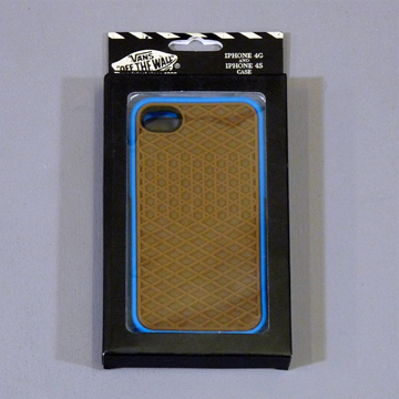 VANS iphone4 CASE BLUE label