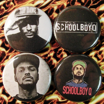 SCHOOLBOY Q 缶バッジ 4個セット A