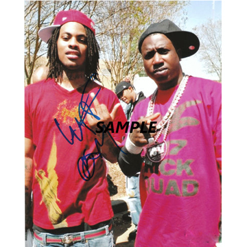 Gucci Mane & Waka Flocka  SIGNED AUTOGRAPH PHOTO (replica)