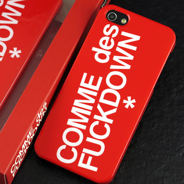 COMME des FUCKDOWN iphone5 カバー赤 [メール便対応可] back
