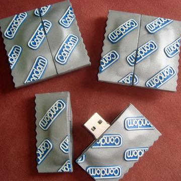 【 メール便対応可 】コンドーム型 USBメモリー 8G