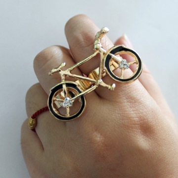 GOLDEN BIKE<br />TWO FINGER RING
