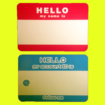 Hello My Name Is  <br />コンドーム&#038;ステッカーセット label