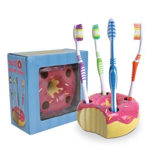 ドーナツ型歯ブラシたて label
