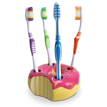 ドーナツ型歯ブラシたて back