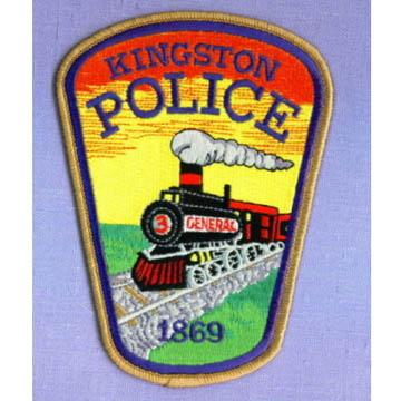 KINGSTONE POLICE IRON PATCH<br /> キングストン アイロンワッペン