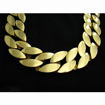 25mm ゴールドチェーン<br />25mm cuban link gold chain back