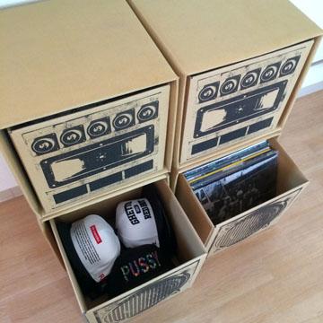 L.S.P SOUND BOX 「LISTENER」2台SET label