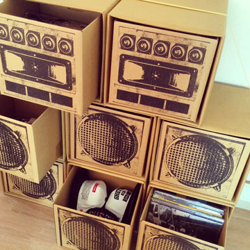 L.S.P SOUND BOX 「LISTENER」2台SET back